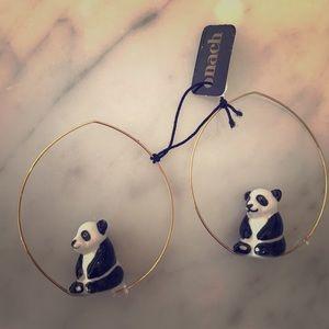Panda earings